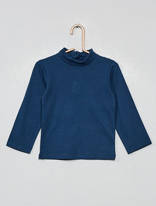 Sous-pull en coton bio                                                                 bleu