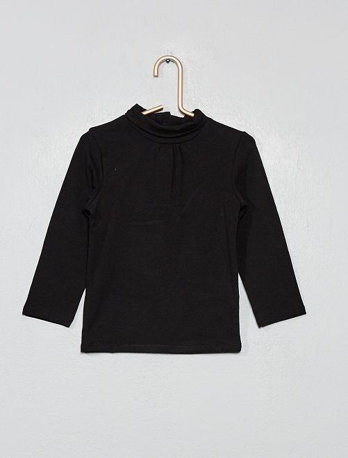 Sous-pull en coton bio 'éco-conception'                                                                             noir Bébé fille