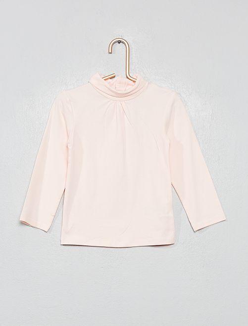 Sous-pull en coton bio 'éco-conception'                                                                             rose clair Bébé fille