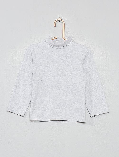Sous-pull en coton bio                                                                 gris