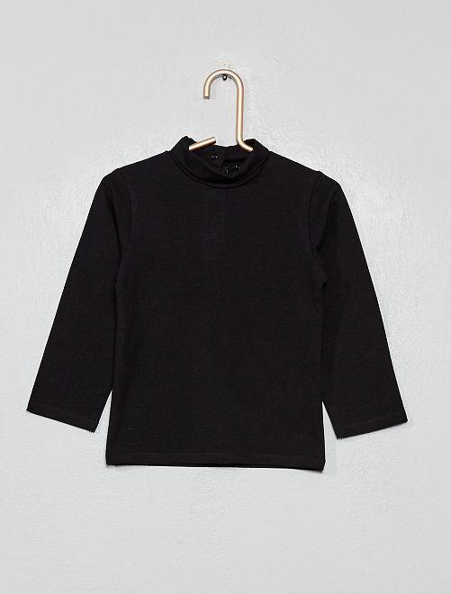 Sous-pull en coton bio                                                                 noir