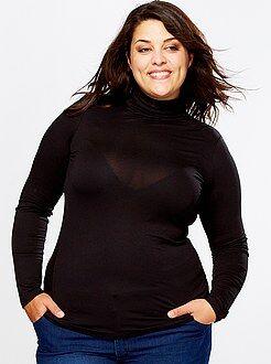 Grande taille femme Sous-pull en jersey