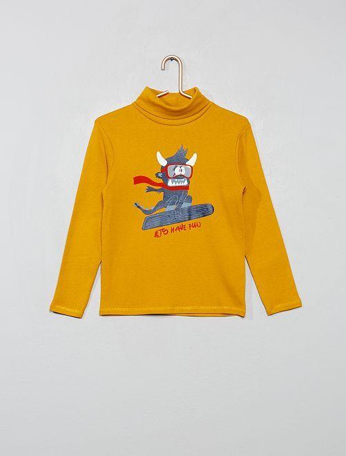 Sous-pull imprimé 'éco-conception'                                         jaune