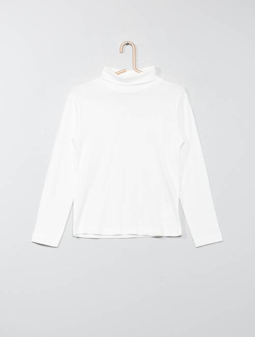 Sous-pull pur coton                                                                             blanc