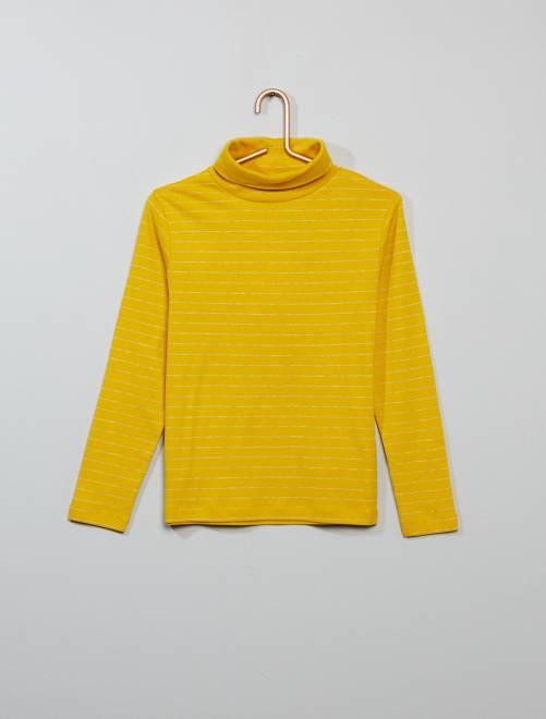 Sous-pull rayé                             jaune Garçon
