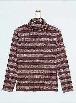 Garçon 3-12 ans Sous-pull rayé pur coton