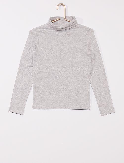 Sous-pull uni                                             gris