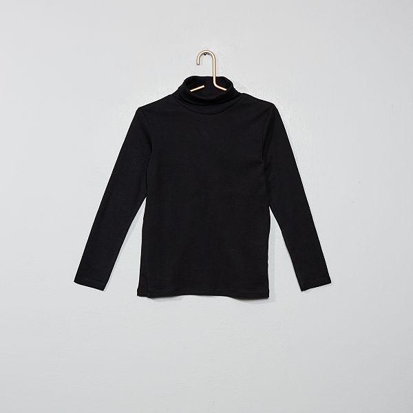 Sous-pull uni Garçon - noir - Kiabi - 3,0
