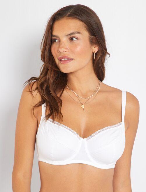 Soutien-gorge coton bonnet D&E                                                                                                                                                                 blanc Lingerie du s au xxl