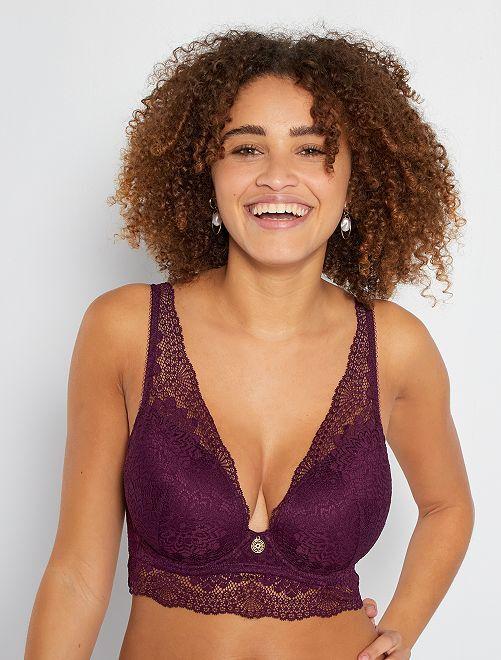 Soutien-gorge dentelle D&E                                         violet