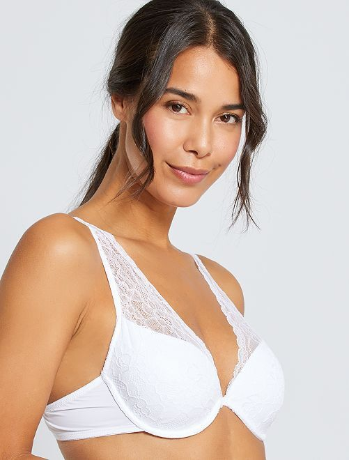 Soutien-gorge foulard ampliforme                                                                                                                                                                 blanc
