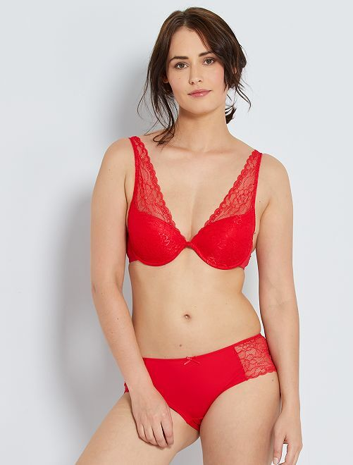 Soutien-gorge foulard ampliforme                                                                                                                                                                 rouge