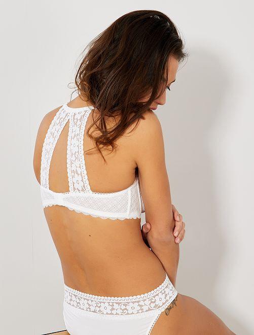 Soutien-gorge paddé bonnet D&E                                         blanc Lingerie du s au xxl
