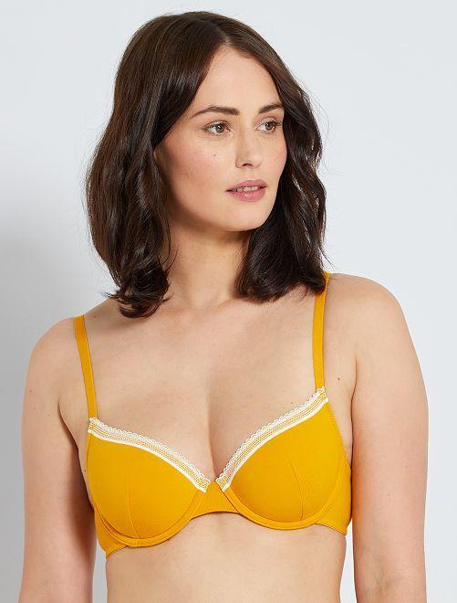 Soutien-gorge paddé coton                                                                                                                                                                             jaune doré