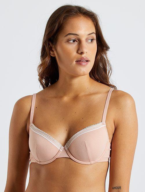 Soutien-gorge paddé coton                                                                                                                                                                             rose clair