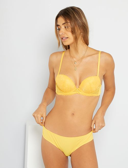 Soutien-gorge plunge paddé                                                                                                                             jaune