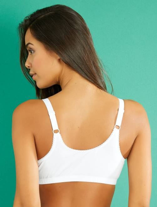 soutien gorge post op ratoire en coton lingerie du s au xxl blanc kiabi 15 00. Black Bedroom Furniture Sets. Home Design Ideas