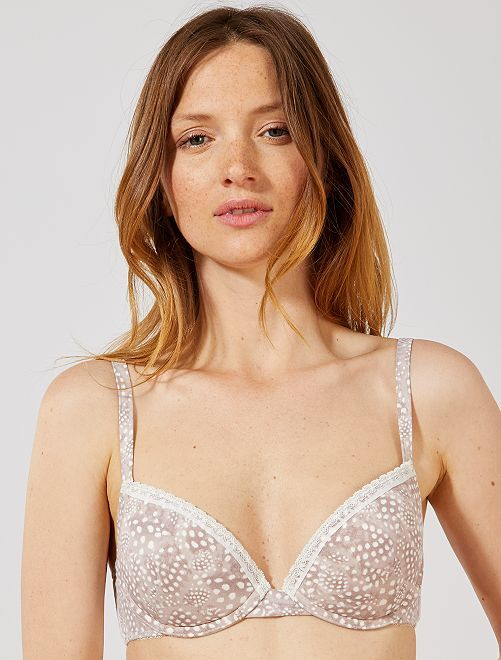 Soutien-gorge push-up 'Envie de Lingerie'                             taupe