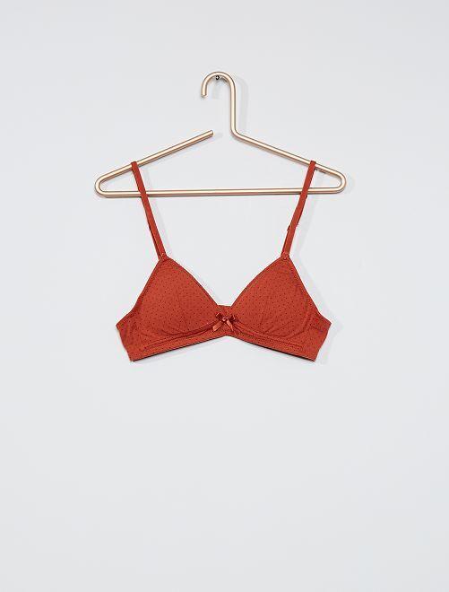 Soutien-gorge triangle en coton                                                                             rouille