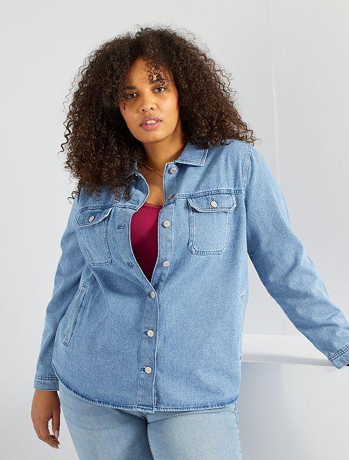 Surchemise en jean                             bleu