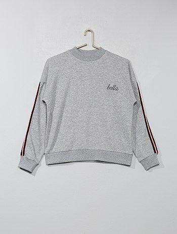 Fille 10-18 ans - Sweat à bandes brillantes - Kiabi