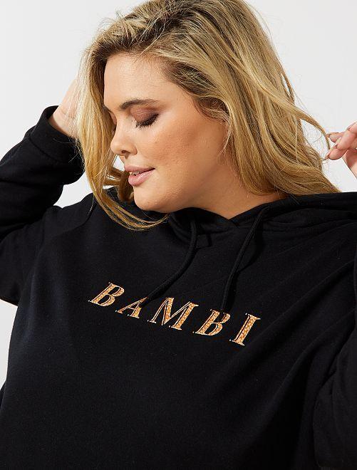 Sweat à capuche 'Bambi'                                                                                                                                         noir