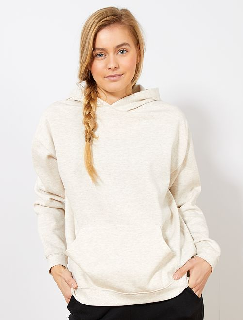 Sweat à capuche                                                                                         beige