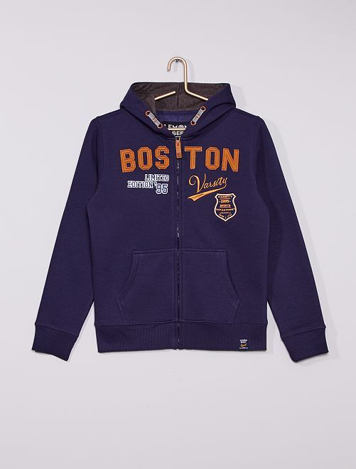 Sweat à capuche 'Boston'                                         bleu