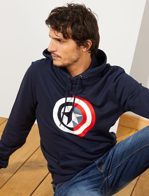 Sweat à capuche 'Captain America'                                         bleu