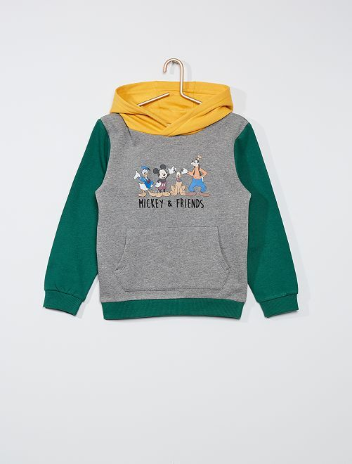 Sweat à capuche 'Disney'                             gris/vert/jaune