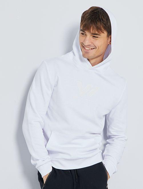 Sweat à capuche éco-conçu                                         blanc