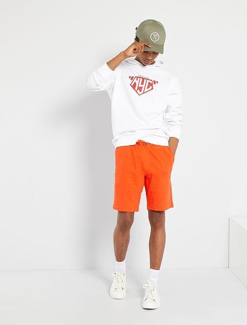 Sweat à capuche éco-conçu                                                                                                                                                                                         blanc nyc