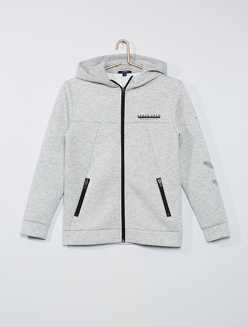 Sweat à capuche éco-conçu                                         gris