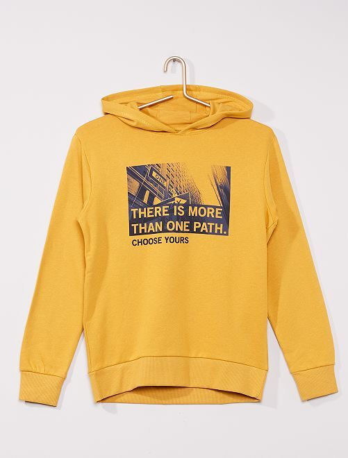 Sweat à capuche éco-conçu                                                                                                                                                                                         jaune choose