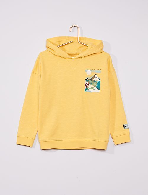 Sweat à capuche éco-conçu                                                                             jaune