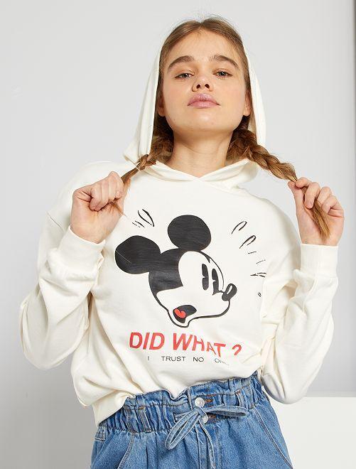 Sweat à capuche éco-conçu 'Mickey' 'Disney'                                         blanc