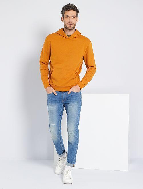 Sweat à capuche éco-conçu                                                                             orange ocre