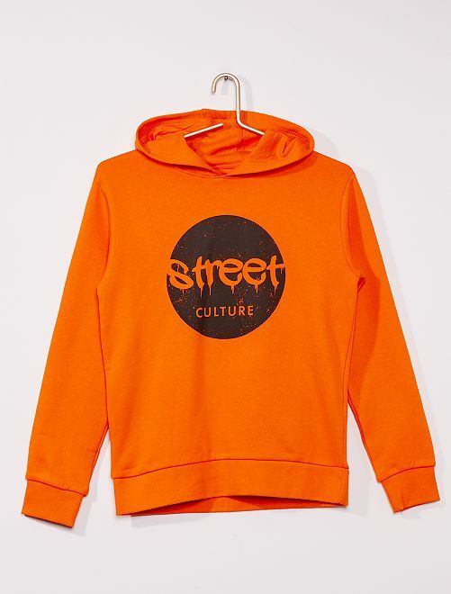 Sweat à capuche éco-conçu                                                                                                                                                                                         orange street
