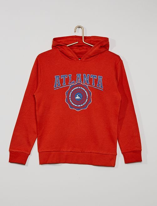 Sweat à capuche éco-conçu                                                                                                                                                                                         rouge atlanta