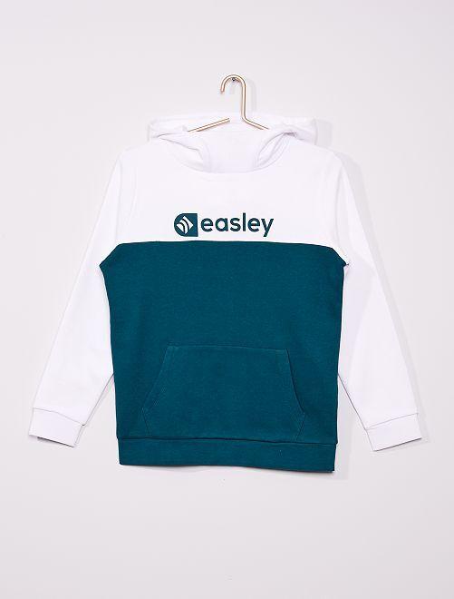 Sweat à capuche éco-conçu                             vert/blanc