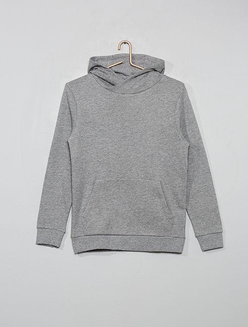 Sweat à capuche                                                                                         gris