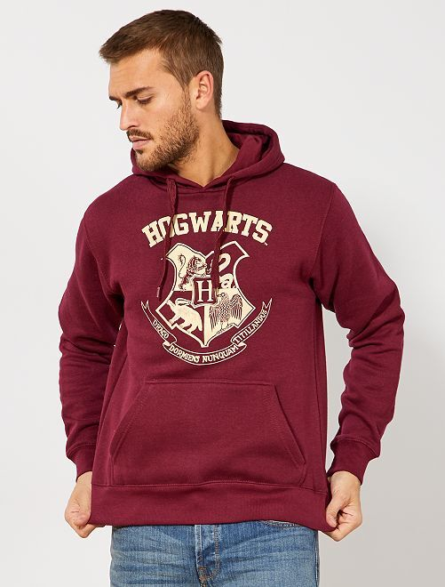 Sweat à capuche 'Harry Potter'                             bordeaux