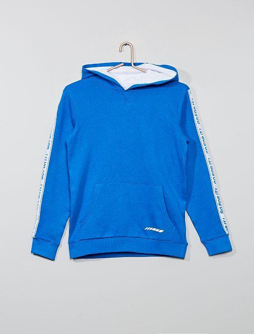 Sweat à capuche imprimé                     bleu