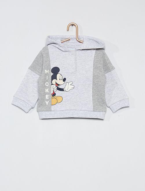 Sweat à capuche imprimé 'Mickey'                                         gris