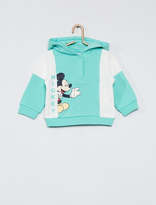Sweat à capuche imprimé 'Mickey'                                         turquoise