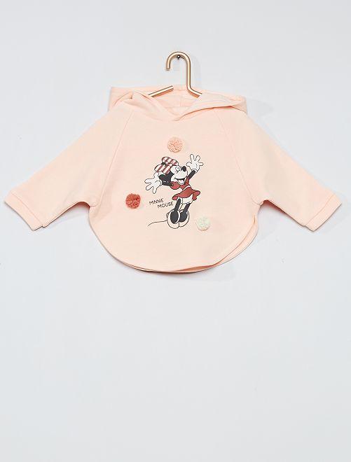 Sweat à capuche imprimé 'Minnie'                             rose