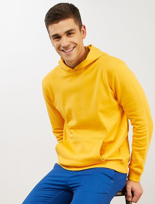 Sweat à capuche                                                                                                     jaune