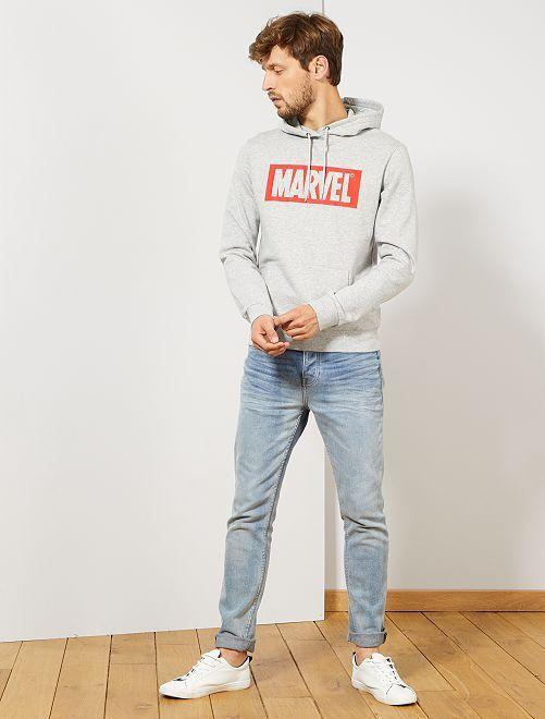 Sweat à capuche 'Marvel'                                         gris chiné