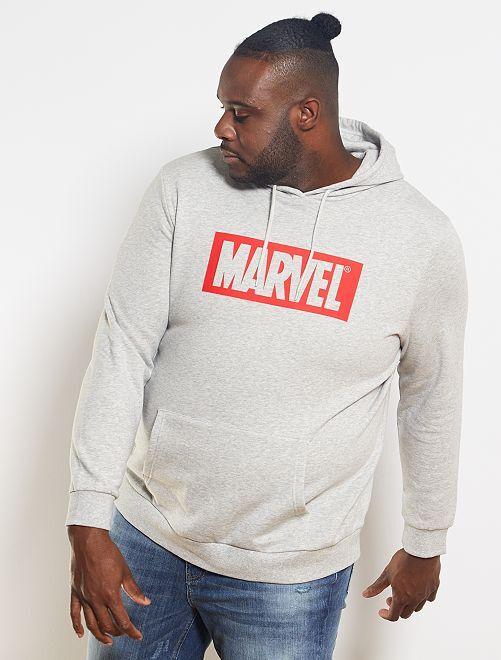 Sweat à capuche 'Marvel'                             gris clair chiné