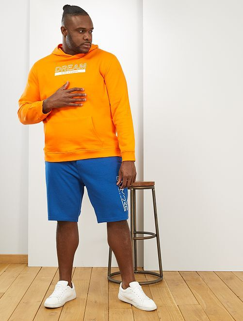 Sweat à capuche message                                         orange
